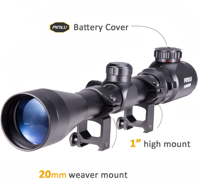 3-9x40 Air Rifle Scope Night Vision Airsoft Sniper Pellet Gun BB Blue Reticle