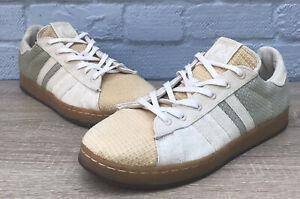 Rare Adidas regrounded recyclé Vegan Baskets Toile bambou Semelles Taille UK 10.5