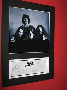 BLACK-SABBATH-OZZY-OSBOURNE-A4-PHOTO-MOUNT-SIGNED-PRE-PRINTED-TICKET-CD