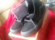 VANS SK8-HI PRO BLACKOUT BLACK size uk 7 off the wall hi top skateboarding