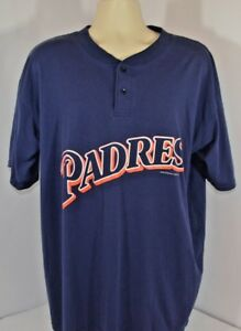 sale retailer 24fad 88bd8 Details about VTG 90s LOGO Athletic San Diego SD Padres Baseball MLB  Spellout T Shirt Mens XL