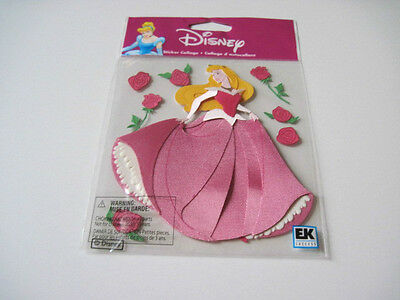 Scrapbooking Stickers Crafts Disney Sleeping Beauty Aurora Pink Gown Red Roses