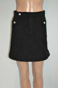 NWOT-See-by-Chloe-Black-Cotton-Skirt-Size-36