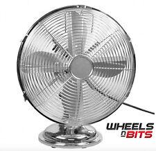 """30cm 12"""" Inch High Velocity Table Fan, Electric Fan, Cooling Fan, Chrome 35WATT"""
