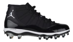 0e3b4b27c3 Nike Air Jordan Retro XI 11 Cleats BLACK WHITE Football High shoes Men's  sizes