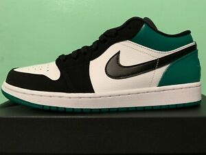 ea03a751ee4528 Nike Air Jordan Retro 1 Low Mystic Green White Black Mens sz 10-13 ...