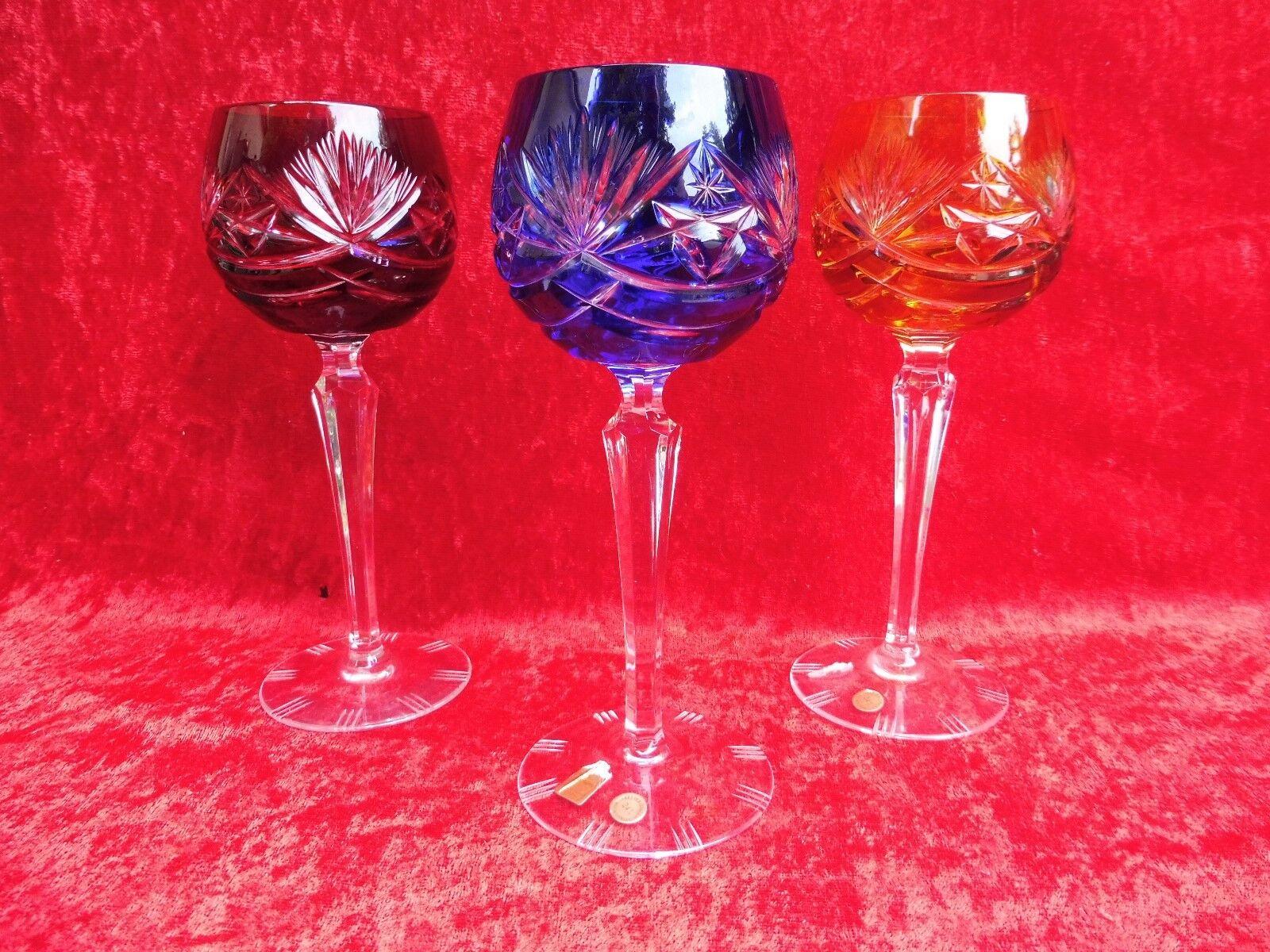 3 Noble Verres à Vin Romains __ Cristal au Plomb au Sol ___ Nachtmann ___