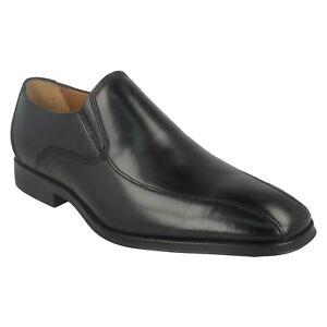 hombre Clarks zapatos negro ocasiones elegantes formales en Slip Tamaño de para para cuero Gilman CqtwxXtHZS