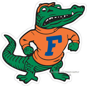 Uf University Of Florida Large Albert Old Gator Decal Ebay