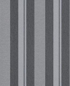 streifen tapete schwarz grau silber gestreift von rasch tapeten 316834 ebay. Black Bedroom Furniture Sets. Home Design Ideas