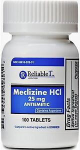 Reliable-1-Meclizine-HCL-25mg-Tablets-100-ea-Pack-of-2