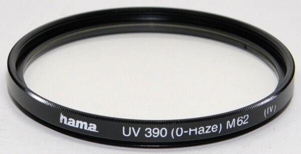 100% De Qualité Hama Uv 390 (0-haze) M62 (iv) Filtre Lentille Filtre Design Moderne