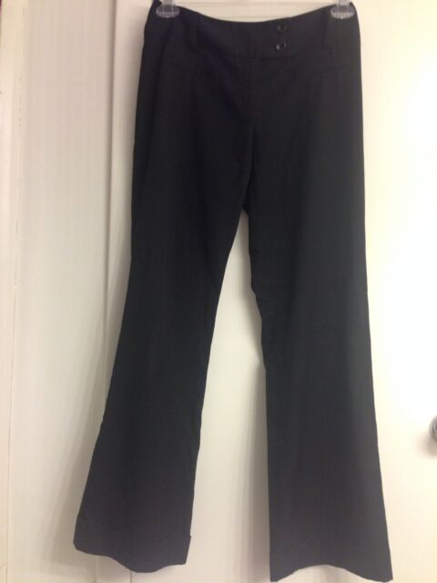 Tracy Evans Business Casual Dress Pants Wide Leg Flat Solid Black