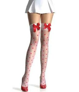 Leg-Avenue-Sheer-Lycra-Woven-Hearts-Stockings-White-Stockings-1018