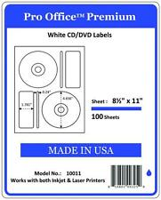 PO11 200(1 pack) CD/DVD Labels Matte Memorex Core Compatible Full Face Laser