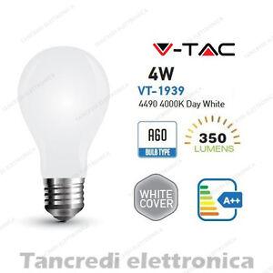 Lampadina-led-V-TAC-4W-E27-bianco-naturale-4000K-VT-1939-A60-bianca-filamento