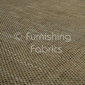 Quality Texture Furnishing Material Brown Colour Woven Hopsack Upholstery Fabric