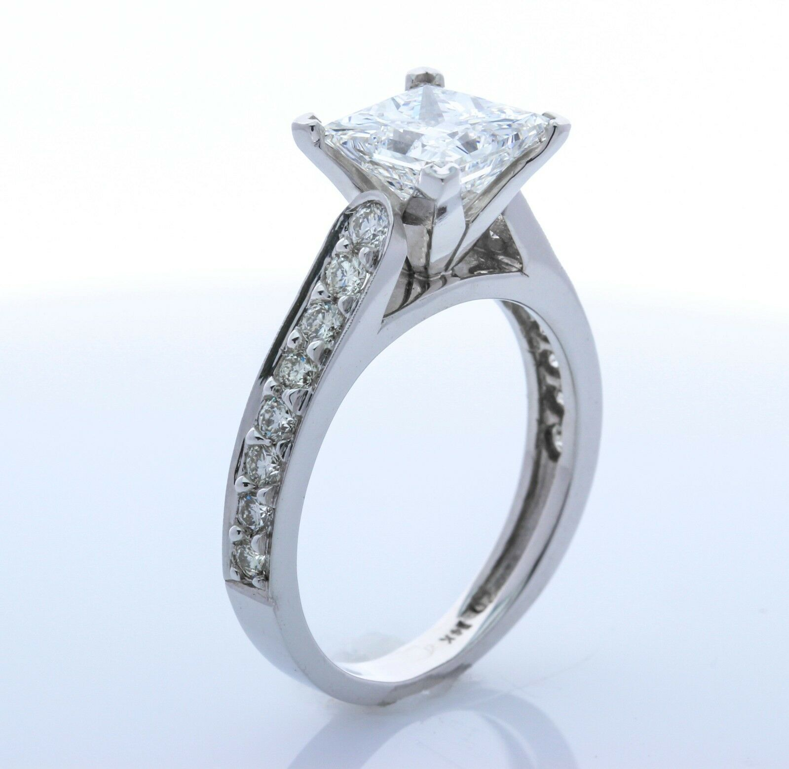 14k White-gold Engagment Ring   SETTING ONLY (Size 7.75)