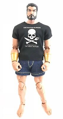 Black T-Shirt for Mattel WWE Marvel Legends No Tracking NOX-T-SK-BL No Figure