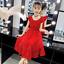 Rot Kleider Mädchen Prinzessin Kleid Tupfen Chiffon Strandkleid Partykleid