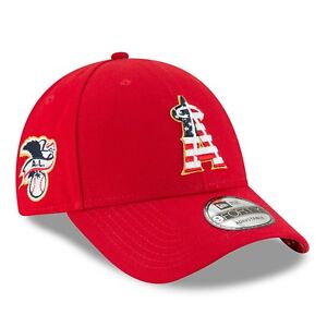 8afedb38 Details about Los Angeles Angels New Era 2018 Stars & Stripes 4th of July  9FORTY Adjust. Hat