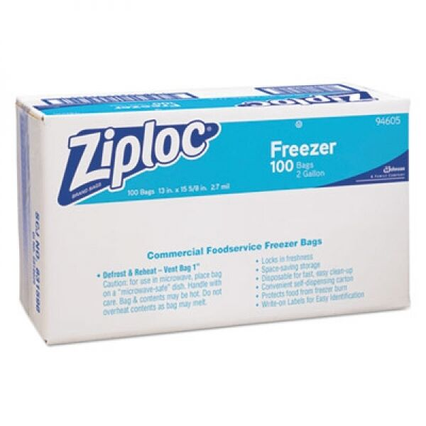 Ziploc 2 Gallon Freezer Bag 100 Count Food Storage Plastic Zipped Lock It Ebay