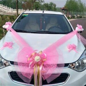 Voiture Mariage Décoration Kit Organza Fleur Boule des noeuds en ruban guirlande papier décoration moderne