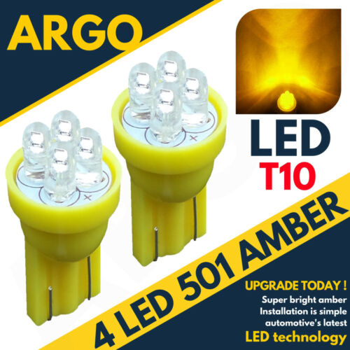 2 X 4 LED AMBER 194 168 501 W5W SIDE REPEATER BULBS UK