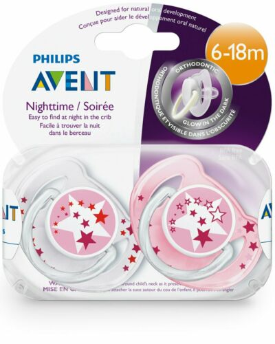 Philips Avent Night Time Soothers 6-18m Stars