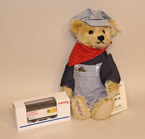 1996-Steiff-Casey-Railroad-Train-Engineer-Teddy-Bear-665134-174-500-Marklin-Car