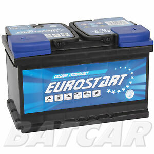autobatterie 75ah eurostart 12v 75 ah 700a en. Black Bedroom Furniture Sets. Home Design Ideas
