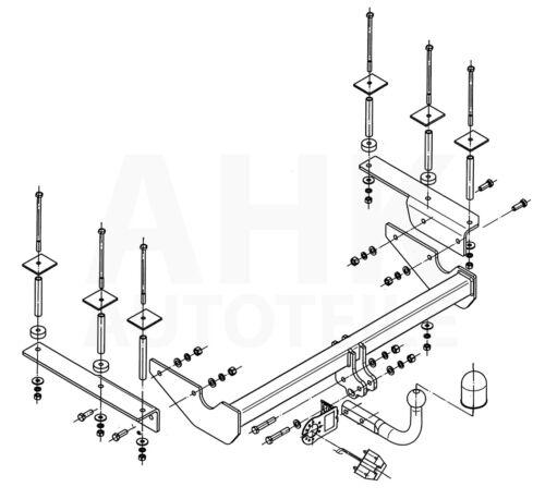 Für Opel Vectra C Kombi Anhängerkupplung starr ABE