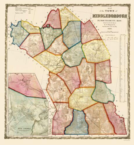 Mayer 1855-23 x 24.96 Middleborough Massachusetts