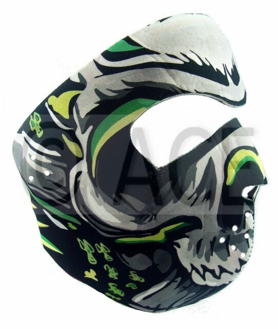 Neoprene Full Face Mask Reversible Biker Skateboard Balaclava Sports Motorbike