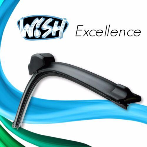 """3 x Wish® Excellence 24/"""" 14/"""" Satz Front 18/"""" Heck Scheibenwischer"""