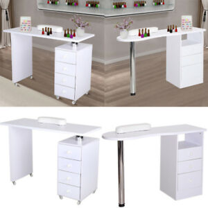 Image Is Loading Modern Salon Manicure Technicians Nail Station Table Desk