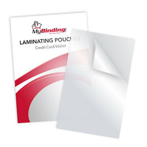 """New 5MIL Credit Card 2-1/8"""" x 3-3/8"""" Laminating Pouches - 100pk - Free Shipping"""