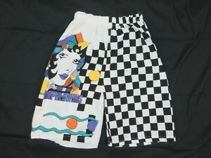 Vintage-Mens-Board-Shorts-Size-S-Beach-90s-Bright-Loud-Mambo-Festival-Surfing