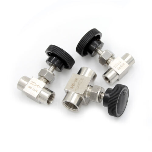 """1//4/""""BSP Female Thread Stainless Flow Control Shut Off Needle Valve Water Gas*Pip"""