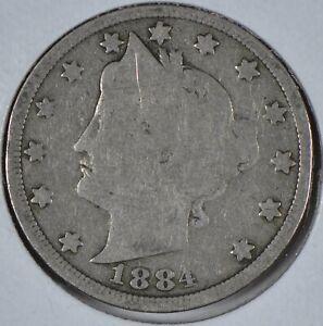 1884 Liberty Head Nickel Good