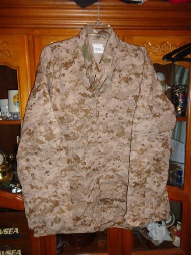 AOR1 NWU DESERT TYPE 2 SHIRT NAVY W NAVY ACE LARGE X LONG ISSUED USN