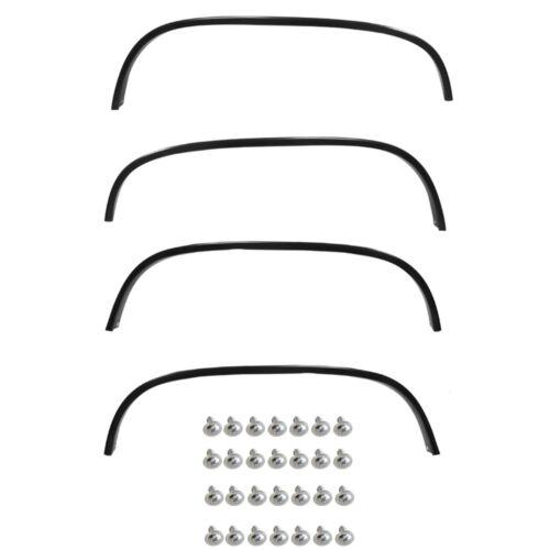 88-97 Chevy Truck//GMC//92-97 Blazer Wheel Moldings Black Front+Rear+Right+Left