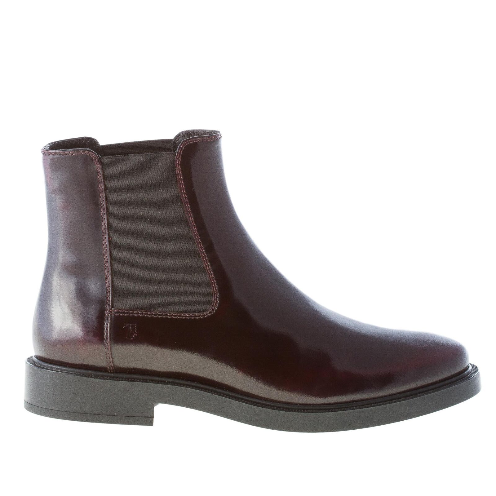 TOD'S women leather shoes Bordeaux smooth leather women Chelsea boot XXW0ZP0V830AKTR802 edb842