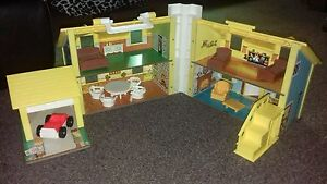 Fisher Price Little People Vintage Play Family House With Furniture 1970s Ebay