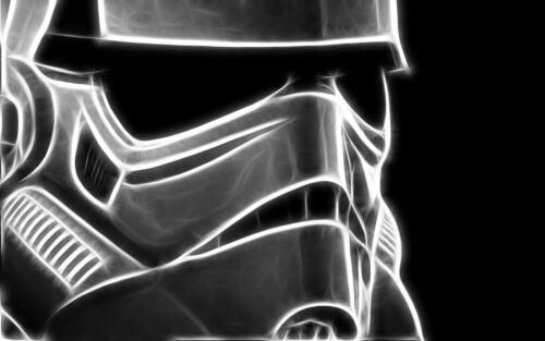 STORMTROOPER STAR WARS ABSTRACT  Canvas Wall Art Framed  Print Various Sizes