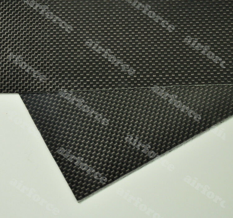 1PC 300x500x0.5mm 3K Plain Weave carbon fiber plate Glossy Surface High Qulity