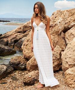 MELISSA-ODABASH-Tara-Crochet-knit-Maxi-Dress-Beach-Kaftan-Bikini-BNWT-S-M-L