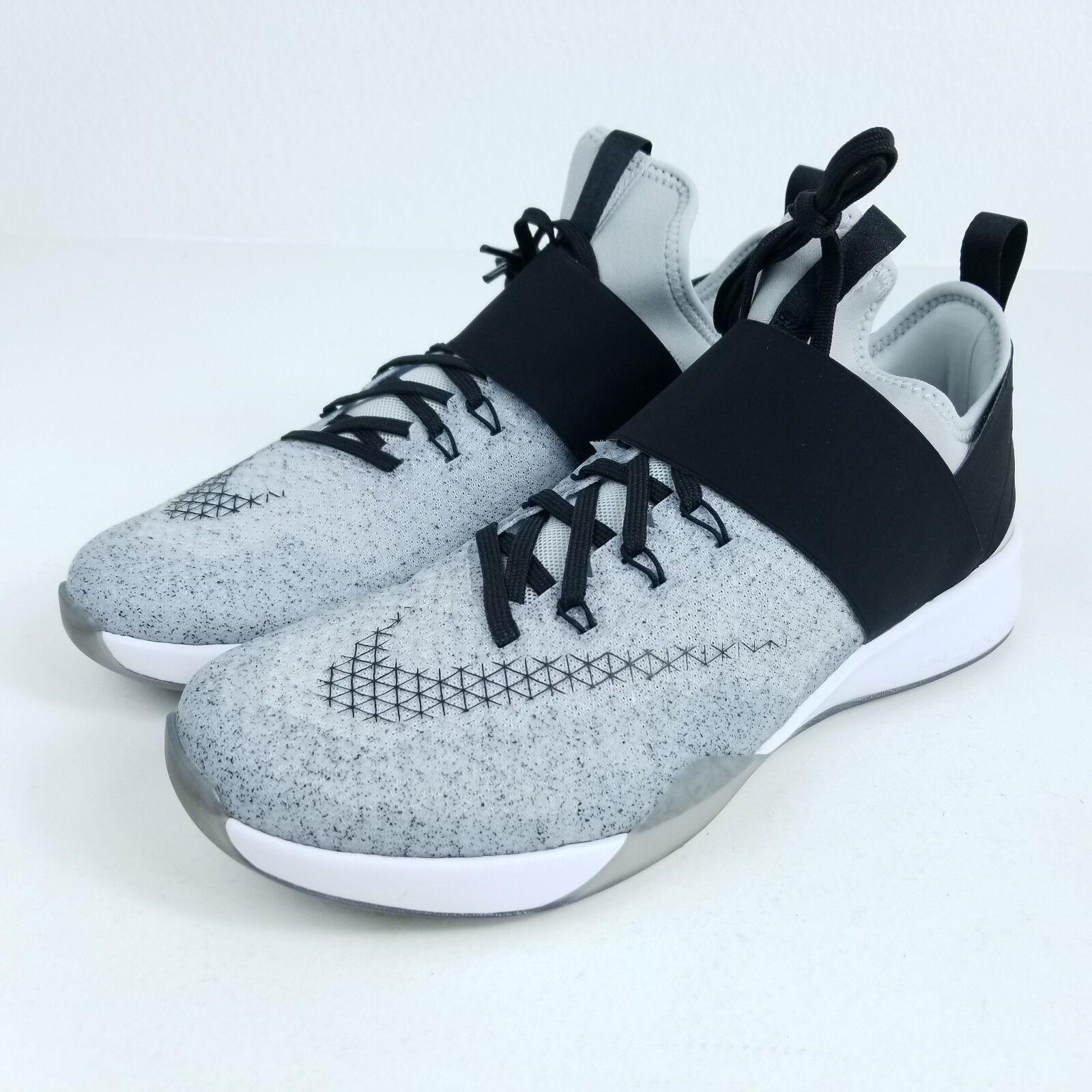 Nike air zoom forti donne sz 8 scarpe grigio nero 843975 100