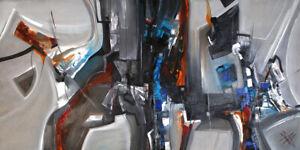 Unikat-Moderne-Malerei-Abstrakt-Ol-auf-Leinwand-Gemaelde-Bild-von-Bozena-Ossowski