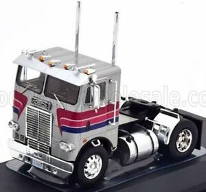 IXO-MODELS 1/43 FREIGHTLINER   COE TRACTOR TRUCK 2-ASSI 1976   SILVER RED